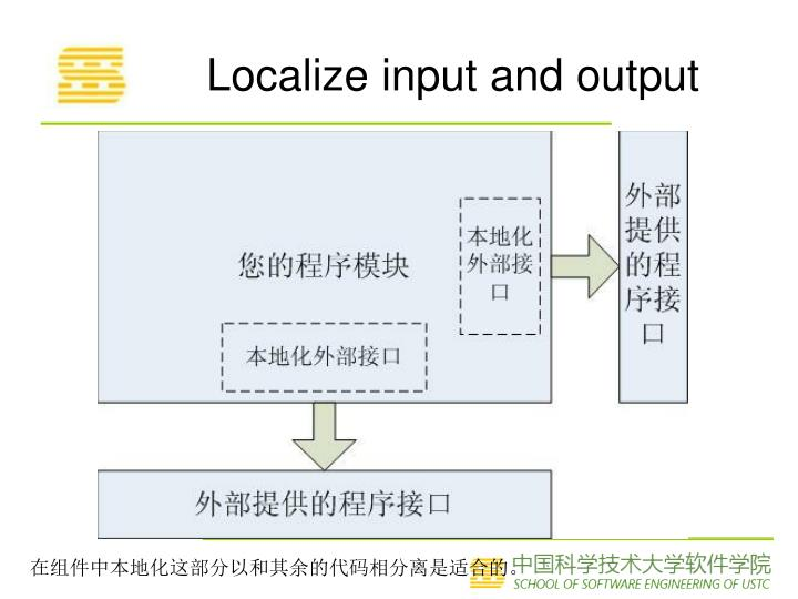 Localize input and output