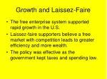 growth and laissez faire