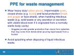 ppe for waste management