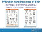 ppe when handling a case of evd1