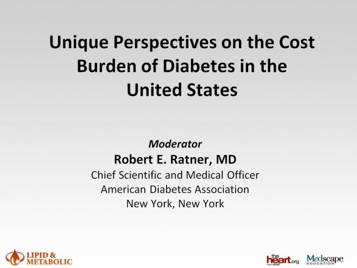 unique perspectives on the cost burden of diabetes in the united states n.