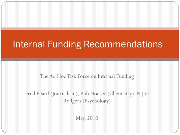 internal funding recommendations n.