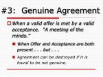 3 genuine agreement