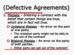 defective agreements1