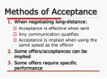 methods of acceptance