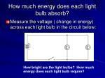 how much energy does each light bulb absorb1