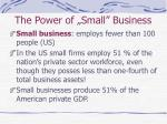 the power of small business