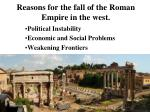 reasons for the fall of the roman empire in the west