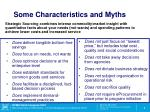 some characteristics and myths