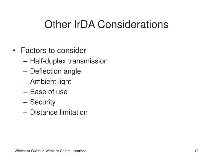Other IrDA Considerations