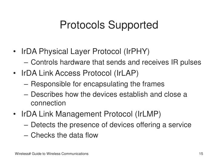 Protocols Supported