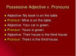 possessive adjective v pronouns