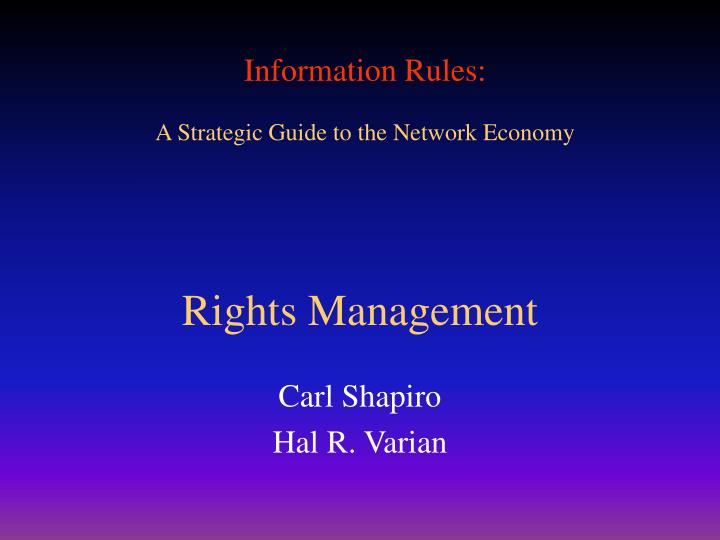 rights management n.