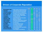 drivers of corporate reputation1