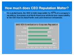 how much does ceo reputation matter