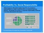 profitability vs social responsibility