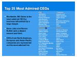 top 25 most admired ceos