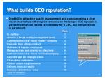 what builds ceo reputation
