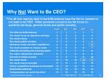 why not want to be ceo1