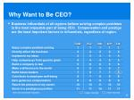 why want to be ceo1