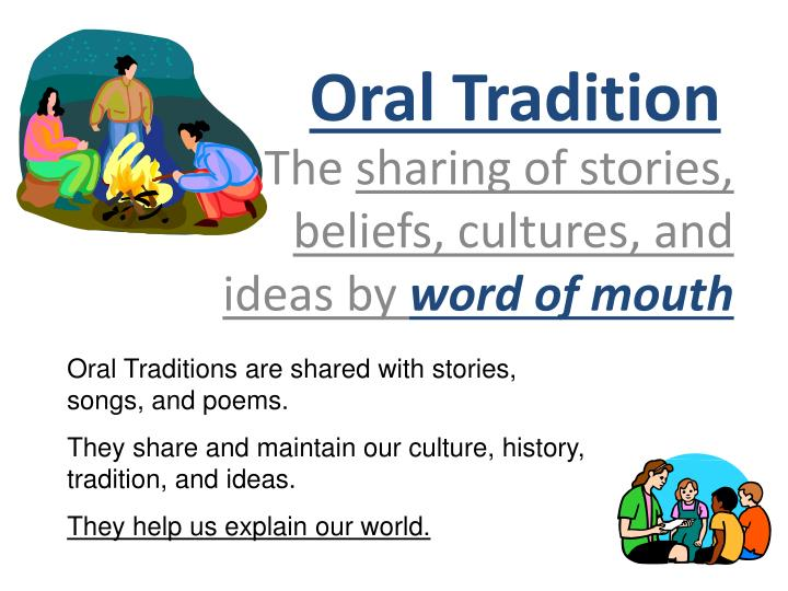 oral tradition n.