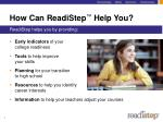 how can readistep help you