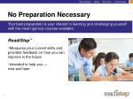 no preparation necessary