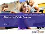 step on the path to success