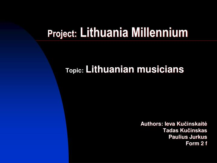 project lithuania millennium n.