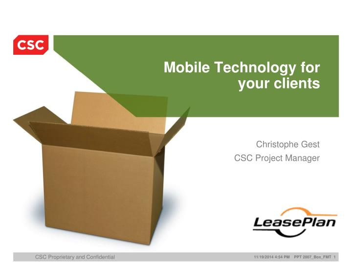 mobile technology for your clients n.