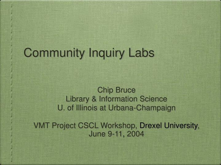 community inquiry labs n.