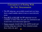 consequences of starting with dir pref determination