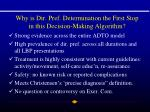 why is dir pref determination the first stop in this decision making algorithm