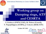 working group on damping rings atf and cesrta