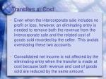 transfers at cost1