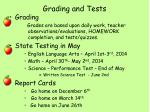 grading and tests