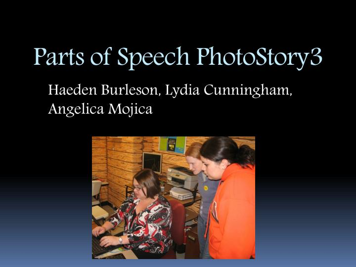 parts of speech photostory3 n.
