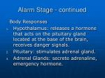 alarm stage continued