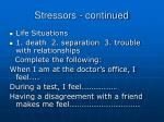 stressors continued1