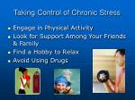 taking control of chronic stress