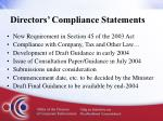 directors compliance statements