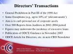 directors transactions