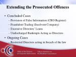 extending the prosecuted offences