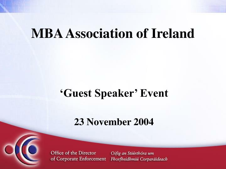 mba association of ireland n.