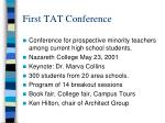 first tat conference