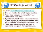 3 rd grade is wired