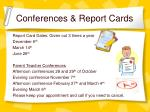 conferences report cards
