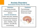 anxiety disorders generalized anxiety disorder gad