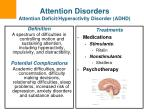 attention disorders attention deficit hyperactivity disorder adhd