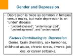 gender and depression